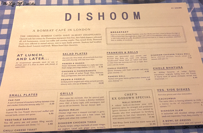 Restaurant Review Dishoom