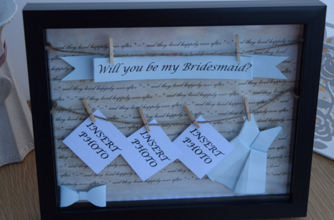 Will You Be My Maid Of Honor Picture Frame | Wedding Tips and ...