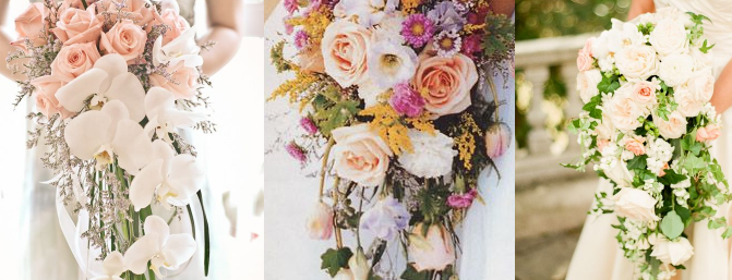 Cascading Wedding Bouquets Choosing Your Flowers